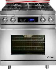Dacor Distinctive 30  4 Burners Pro Style Slide in Dual Fuel Range SS DR30DING