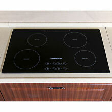 31 5  4 Zone Electric Induction Hob Touch Control Smooth Top Glass Plate Cooktop