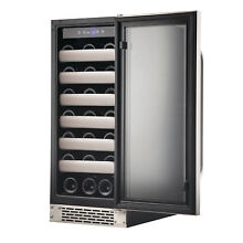 Silver Dual Zone Built In Wine Refrigerator 33 Bottle Cooler Kitchen Ap
