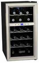 14 Inch Wide Dual Zone Thermoelectric 18 Bottle Wine Cooler Refrigerator Fridge