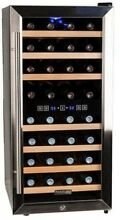 16 in Wide Dual Zone 32 Bottle Wine Cooler Freestanding Kitchen Bar Refrigerator