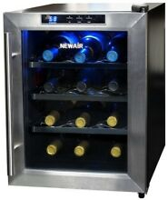 12 Bottle Countertop Thermoelectric Wine Cooler Stainless Steel Refrigerator NEW