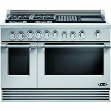 DCS RDV484GGN Professional 48  Stainless Steel Dual Fuel Slide In Sealed Burner