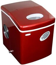 NewAir 28 lb  Ice Maker Red Plug in Freestanding Portable Compact Removable Bin