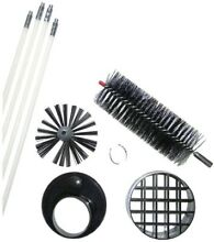 LintEater Heavy Duty Cleaning Brush Dryer Vent Lint Removal Kit  White