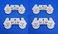 4 Pack Whirlpool WP8268645 Dishwasher Lower Rack Wheels NEW OEM  Four Included
