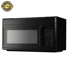 MAGIC CHEF Over the Range Microwave 1 6 cu  ft  Black Reheat Defrost Cooking New