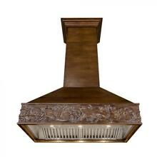 ZLINE 42  DESIGNER CARVED WOOD WALL RANGE HOOD CROWN MOLDING 373RR 42