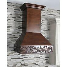ZLINE 30  DESIGNER CARVED SOLID WOOD WALL RANGE HOOD CROWN MOLDING 373WH 30