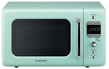Mint GREEN Retro MICROWAVE OVEN  700W 5 Power Levels  10 inch Turntable   Light