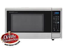 New Home Office Countertop Sharp 1 4 Cu Ft 100W Microwave  Stainless Steel