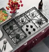 GE PROFILE 36  Stainless High Output Burner Burners Gas Cooktop JGP963SEKSS
