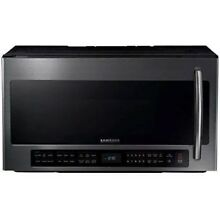 Samsung 2 1 cu ft Over the range Microwave Black Stainless Steel ME21H706MQG