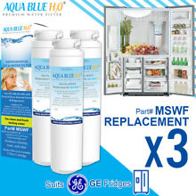 3 x GE MSWF Premium Compatible Fridge Water Filter Fits PJA25YGXAFSV PSA29VGXCS