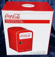 NEW Coca Cola  Retro Mini Fridge Cooler Koolatron  Personal Fridge Model KWC 4