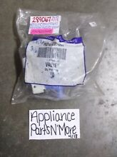 GENUINE SERVICE PARTS WHIRLPOOL WASHER INLET VALVE 289067 FREE SHIPPING NEW PART