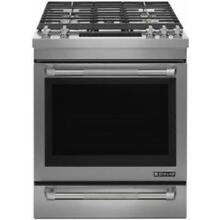 Jenn Air 30  Dual Stacked PowerBurner Slide in Stainless Gas Range JGS1450DP