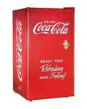 Coca Cola Compact Refrigerator Small Fridge Mini Freezer 3 2 Cu Ft Dorm Retro