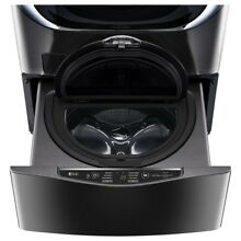 LG SideKick 1 cu ft 27 in Pedestal Washer  Black Stainless Steel