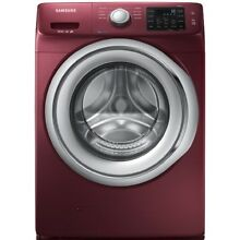 Samsung 4 2 cu ft High Efficiency Stackable Front Load Washer  Merlot  ENERGY ST