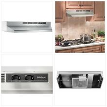 Non Vented Kitchen Range Hood Stainless Steel Stove Cooker Exhaust Vent 30 in