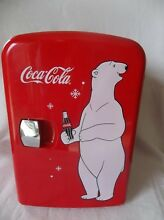 Coca Cola Mini Fridge Cooler Warmer Retro Personal Fridge Koolatron Model KWC 4