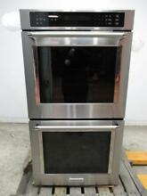 KITCHENAID 27  8 6 Cu  Ft  Stainless True Convection Double Wall Oven KODE307ESS