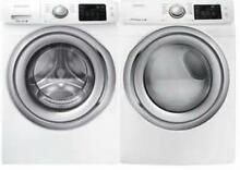 Samsung White Front Load Steam Washer and Dryer Set WF42H5200AW   DV42H5200EW