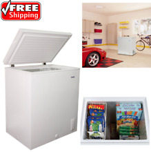 Haier 5 0 cu ft  Capacity Chest Freezer Top Loading 175 lbs Food Basket Defrost