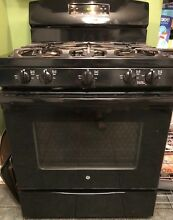 GE 30  Free Standing Gas Range Black 5 0 cu  ft  model JGB650DEF1BB
