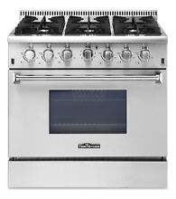Thor Kitchen 36  Gas Range Stoves Stainless Steel  6 Burners Free Standing