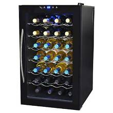 Wine Cooler 28 Bottle Thermoelectric Cooler Cellar Countertop Free Standing LED