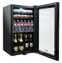 Beverage Center Can Cooler Wine Bottle Cellar Fridge Glass Door Lock Decor Style