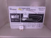 WHIRLPOOL 30 INCH 2 SPEED CONVERTIBLE BUILT IN RANGE HOOD UXT4230ADS