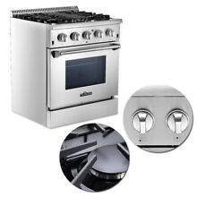 30  Stainless Steel Dual fuel Range 4 2 cu ft Capacity Kitchen Single Oven Home