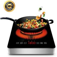 1800w Portable Induction Cooktop With COMMERCIAL PLUG Countertop Burner Cooktop