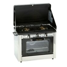 Propane Gas Range Stove Oven Double Burner Stainless Steel Outdoor Tailgating