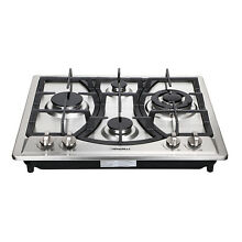 23  COOKTOPS Curve Stainless Steel 4 Burners NG LPG Gas Hob Cooktop Cooker Stove