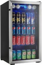 Beverage Center Can Cooler Chiller Fridge 18in 3 3 Cu Ft 120 Cans Freestanding
