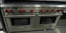Wolf 60  Stainless Steel 6 Burner Pro Style Convection Gas Range GR606CG