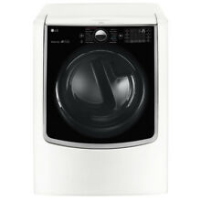 LG 9 0 cu  ft  Mega Capacity Gas Front Load TurboSteam Dryer  DLGX9001W  NEW