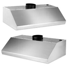 Home Stainless Steel Range Hood 900CFM Centrifugal Blower 4 speed Control Panel
