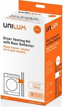 ULX104 Unilux Simpson Dryer Venting Kit with Rear Deflector   100mm Outlet