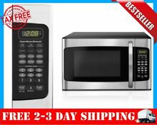 LED Display 1 1 CU FT Microwave Oven 1000W Kitchen Stainless Dorm 6 Quick Button