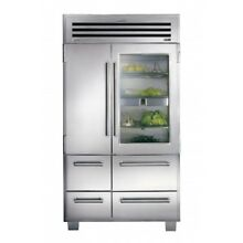 Sub Zero Pro 48  Built In Refrigerator Side by Side in Stainless Steel 648PROG