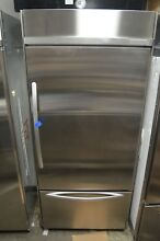 KitchenAid 36  Built In Stainless Steel Bottom Freezer Refrigerator KBRC36FTS