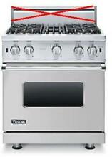 Viking 5 Series 30 Inch Pro Style SureSpark Convection Gas Range VGIC53014BSS