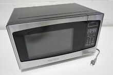 Insignia 0 9 Cu  Ft  Countertop Microwave Stainless Steel NS MW09SS8
