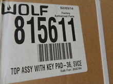 NEW OEM WOLF 815611 COOKTOP DBW