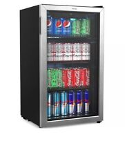 HOmeLabs Beverage Refrigerator and Cooler   Mini Fridge with Glass Door for Soda
